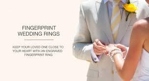 wedding engravings fingerprint wedding rings in dubai customised engagement rings