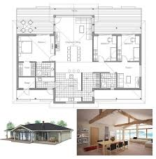 small house plan with vaulted ceiling all bedroom windows directed