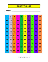 printable hundreds chart free hundreds chart color png