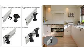 kitchen base cabinet adjustable legs uxcell kitchen bedroom plastic adjustable cabinet legs foot black 4pcs