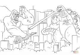king kong vs godzilla coloring page free printable coloring