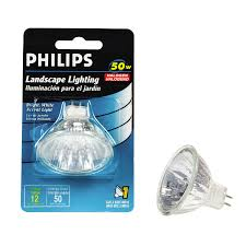 shop philips 50 watt bright white mr16 halogen light fixture light