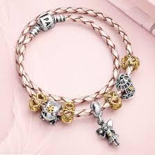 pandora chagne braided leather bracelet