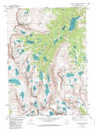 Wyoming Road Map Roberts Mountain Topographic Map Wy Usgs Topo Quad 42109h3