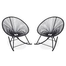 acapulco chaise ensemble de 2 fauteuils à bascule acapulco chaise oeuf design rétro