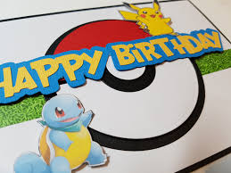 how to make simple pokemon themed birthday cards greeting cards