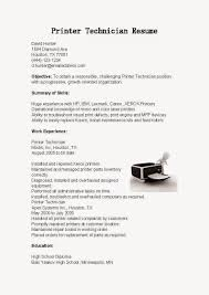 Maintenance Technician Resume 28 Sample Resume Printer Technician Printer Repair