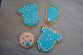 baby shower things baby boy cookies simple http snargblog search