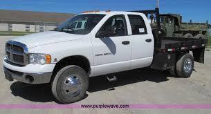dodge ram 3500 flatbed 2005 dodge ram 3500 flatbed truck item e3951 sold june