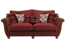 galloway large high back sofa in blyth fabric red with red check