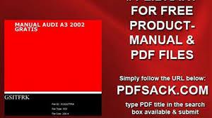 manual audi a3 2002 gratis video dailymotion