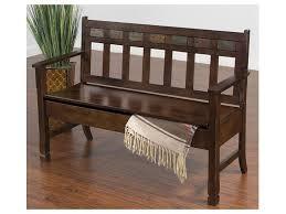 Outdoor Bench With Storage Sunny Designs Living Room Santa Fe Deacon U0027s Bench With Storage