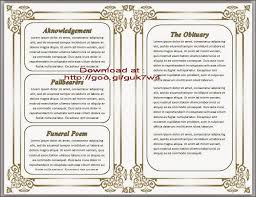 funeral programs order of service free obituary template nicetobeatyou tk