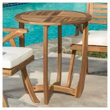 Acacia Table Carina Round Acacia Wood Accent Table Teak Christopher Knight