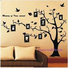Stick On Wall Wall Art Ideas Design Brown Stick On Wall Art Trees Family
