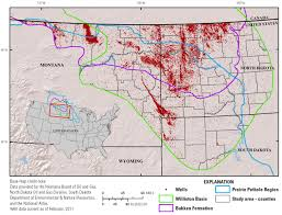 Montana County Map by Brine Contamination To Plains And Potholes Environments From