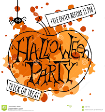 happy halloween party poster vector illustration stock vector