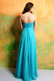 buy cheap sweetheart empire waist floral long chiffon blue