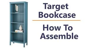Target Narrow Bookcase by Target Threshold Windham Shelf Bookcase How To Assemble And Tips