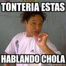 Chola Meme - meme personalizado tonteria estas hablando chola 4414884