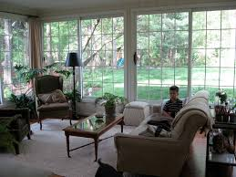 Cozy Sunroom Furniture Beige Indoor Sunroom Furniture With Wood Coffee Table