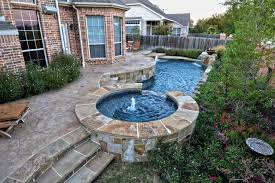 small pools and spas small rustic geometric pool spa contemporary pool dallas