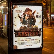 template flyer country free western party premium flyer psd template psdmarket