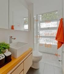 Orange Bathroom Vanity Home Design Orange White Bathroom With Rectangle White Wash