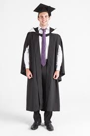 buy cap and gown uq bachelor graduation gown set front view boys graduation