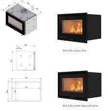 rais 500 1 6kw insert wood burning firebox