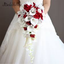 wedding bouquets vintage artificial flowers waterfall wedding bouquets with