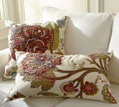 floral embroidered pillow covers pottery barn
