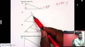 triangle sum exterior angle theorem youtube