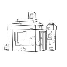 minecraft coloring page taking a walk coloring pages hellokids com