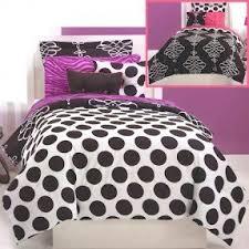Black And White Comforter Full Black And White Polka Dot Comforter Set Foter