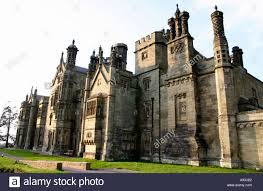 tudor gothic style victorian mansion house stock photo royalty