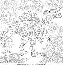 stylized tyrannosaurus t rex dinosaur late stock vector 586052975