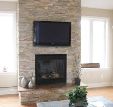 stone veneer fireplace living room traditional with faux stone