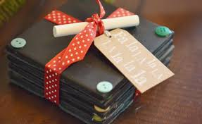 Homemade Christmas Gifts by Diy Chalkboard Coaster Set Tutorial Handmade Gift Idea Super