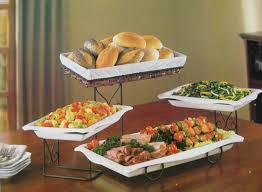 4 tier buffet server with removable plates u0026 bread basket