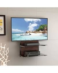 Wall Mounted Dvd Shelves by Great Deal On Fitueyes 2 Tiers Wood Av Shelf Component Wall Mount