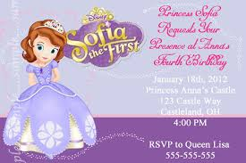 105 Best Anna U0027s 3rd by Invitations Sofia The First Free Printable Invitation Design