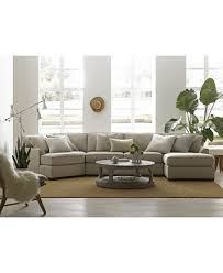 Cuddler Chaise Carena 3 Pc Fabric Sectional With Apartment Sofa And Double