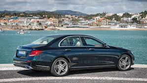 luxury mercedes sedan driving the semi autonomous mercedes benz e class sedan in