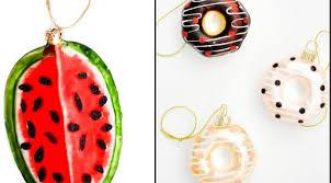 food themed tree ornaments