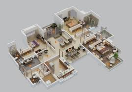 Fascinating  Bedroom House Floor Plans  Story Modern For Lrg - 5 bedroom house floor plans