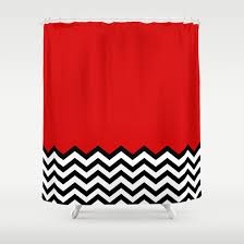 black lodge dreams twin peaks shower curtain by welcome to twin