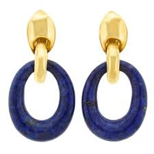 1970s earrings lapis and gold 1970s earrings at 1stdibs