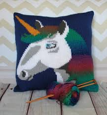 Knitted Cushions Free Patterns Unicorn Cushion Cover Knitting Pattern By Ruby And The Foxes