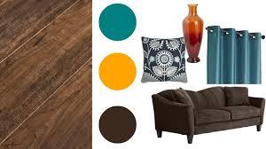 room ideas trendy teal and orange decor
